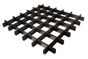 方形铝格栅