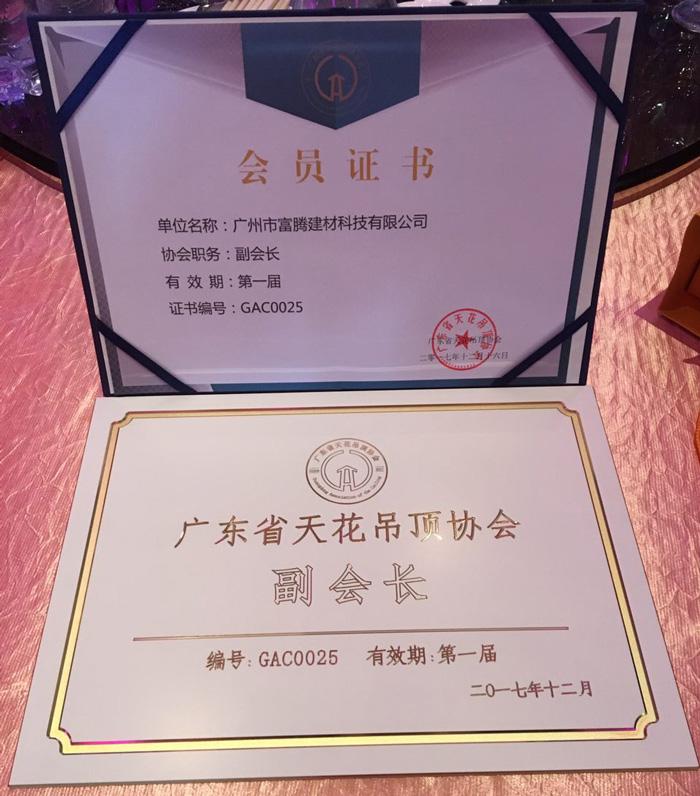 广东省吊顶协会副会长